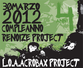 30 Marzo. Compleanno Renoize Project