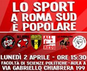 2 Aprile. A Roma Sud lo sport è popolare