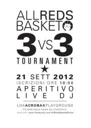 21 settembre ore 19:00 ALL REDS BASKET 3vs3 TOURNAMENT
