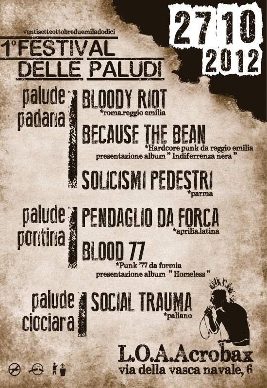 27 Ottobre | 1° Festival delle paludi. Punk @ Acrobax