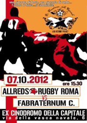 7 Ott | All Reds Rugby, riprende il campionato!