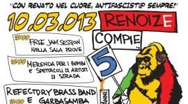Domenica 10 Marzo   Festeggia 5 Anni di Renoize Project!
