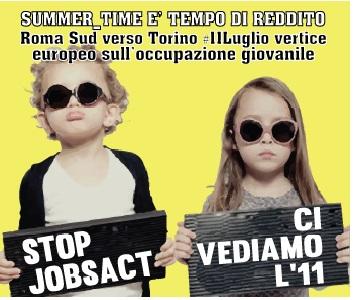 Summer_time è tempo di reddito! Roma Sud verso il vertice europeo sulla disoccupazione giovanile