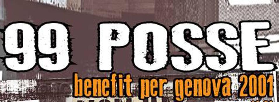 Venerdi 28 Novembre | 99 Posse. Benefit per Genova 2001