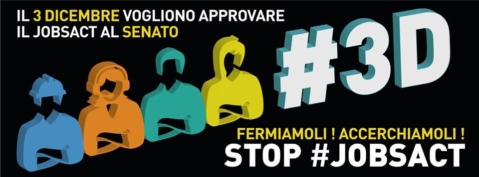 Il #3D a Roma circondiamo il senato #STOPJOBSACT!