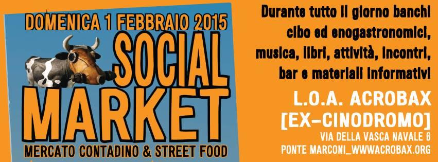 1 Febbraio | Social Market: mercato contadino & street food ad Acrobax