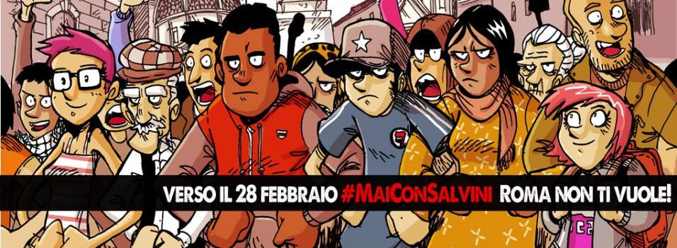 #MaiConSalvini, Roma non ti vuole!