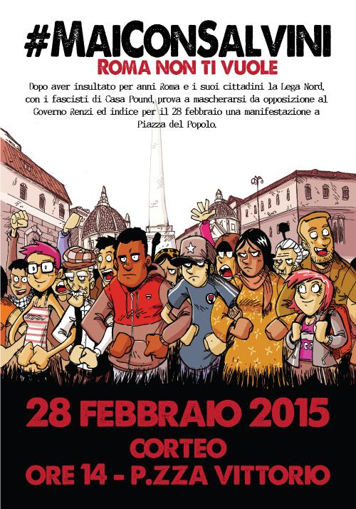 Verso il 28 febbraio, ripetiamo con forza #MaiConSalvini !