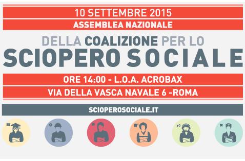 Giovedi 10 settembre | Roma assemblea nazionale della Coalizione per lo sciopero sociale