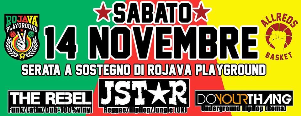 Sabato 14 Novembre | All Reds Basket per Rojava Playground