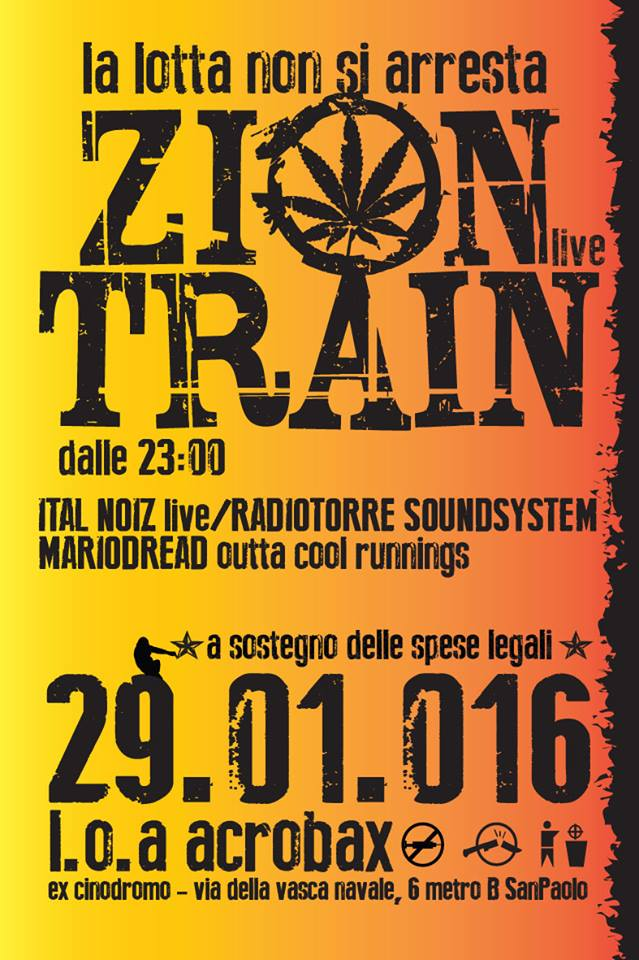 29 Gennaio  ZION TRAIN