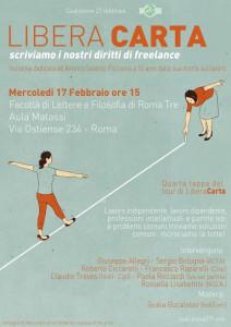 Mercoledì 17 febbraio/Libera Carta: scriviamo i nostri diritti di freelance e ordinisti