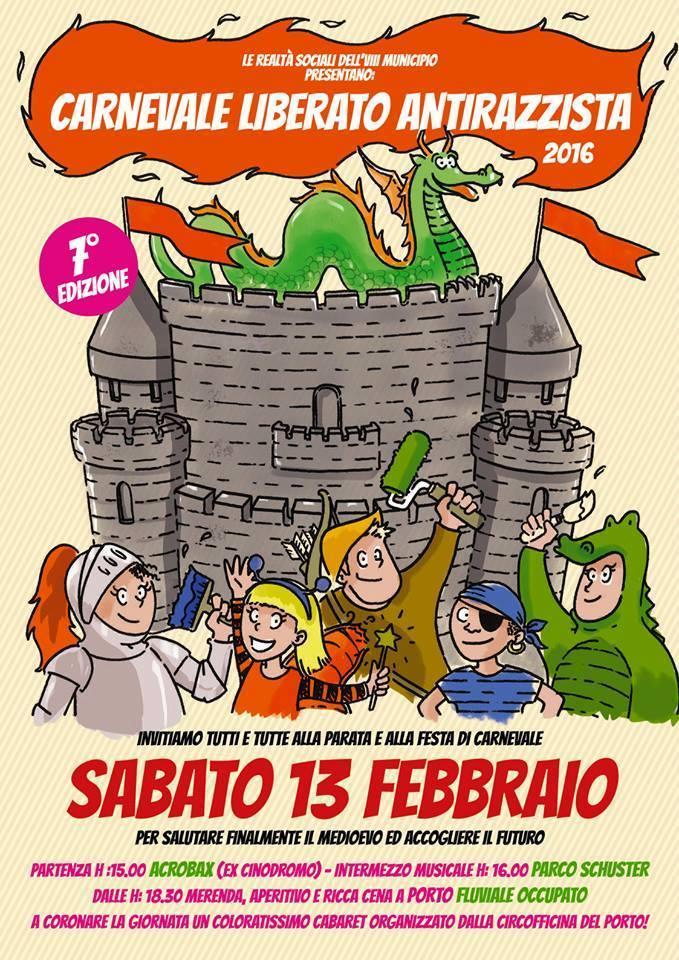 Sabato 13 Febbraio-CARNEVALE ANTIRAZZISTA LIBERATO e CABARET CIRCOFFICINA
