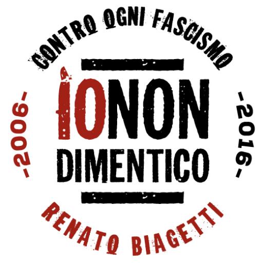 Io Non Dimentico | 2006-2016 Renato Biagetti Contro Ogni Fascismo