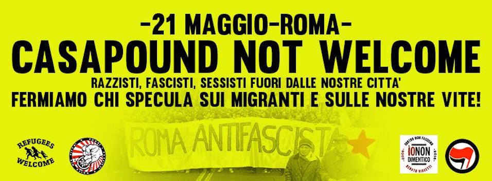 21 Maggio | Casa Pound not welcome.
