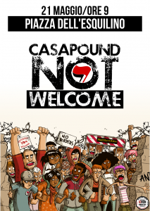 21 maggio, Casapound not Welcome