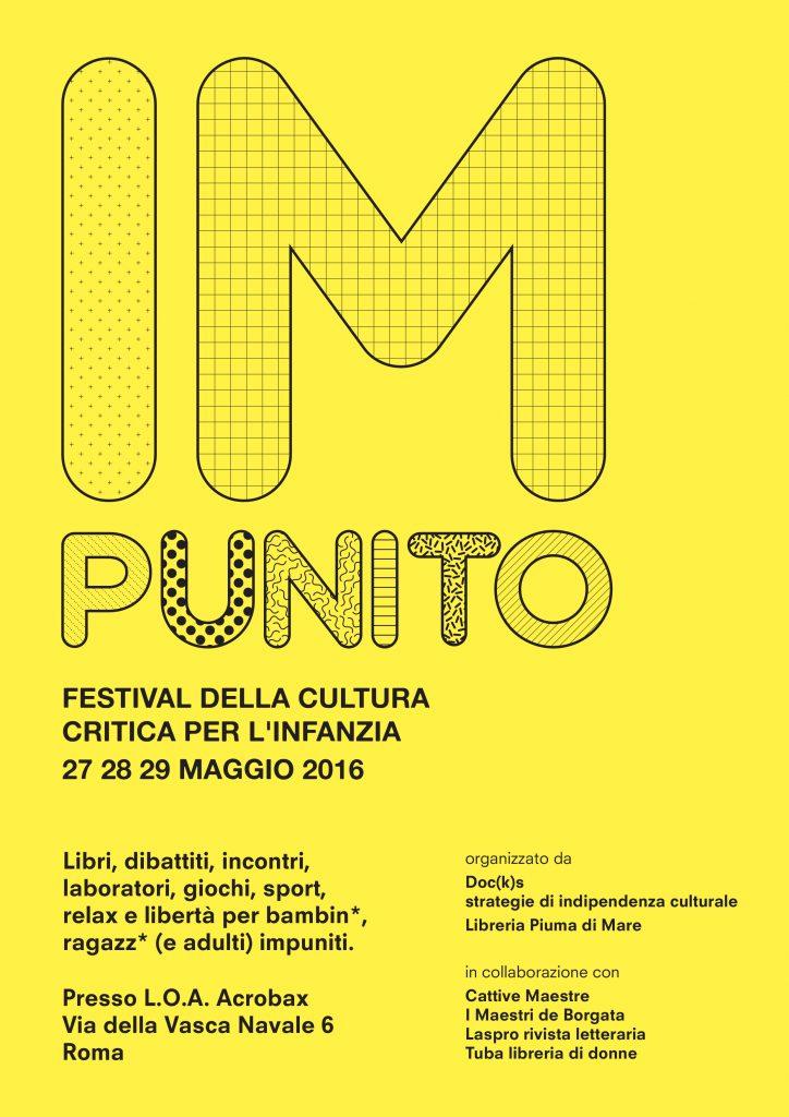 27-28-29 Maggio | Impunito. Festival della cultura critica per l'infanzia