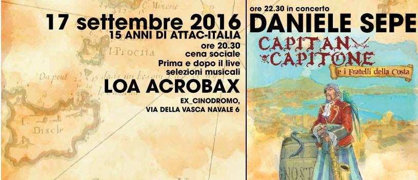 Sabato 17 Settembre/ Daniele Sepe in concerto