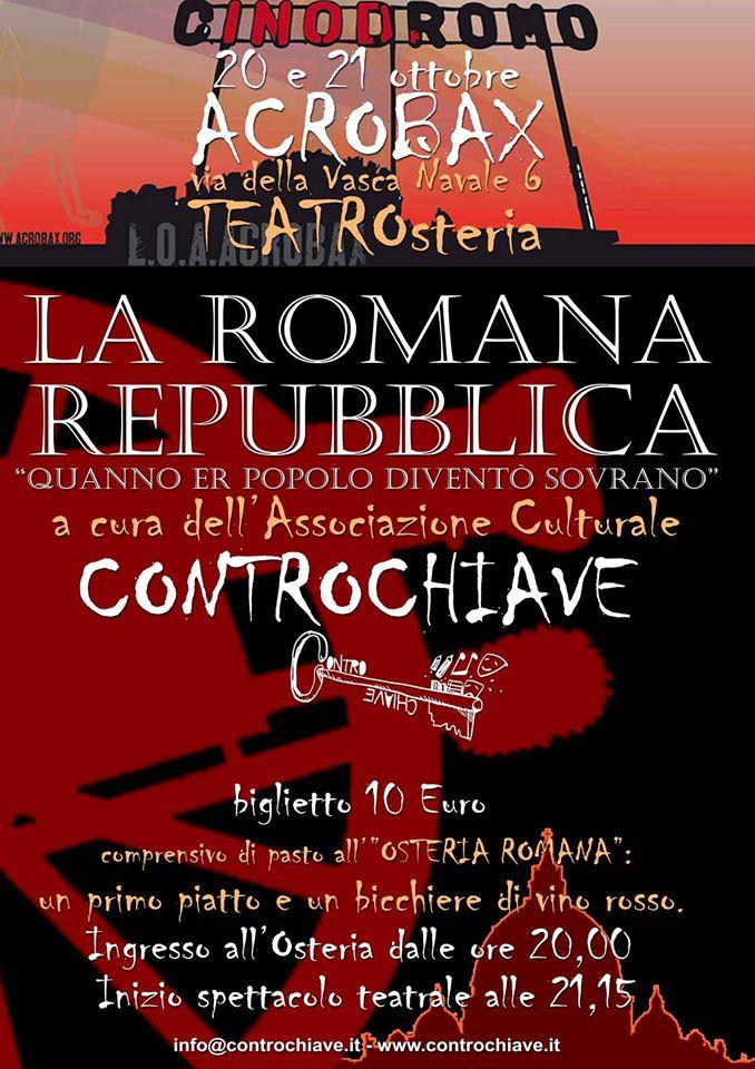 Giovedì 20 ottobre/ La romana repubblica