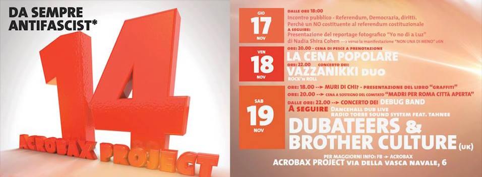17-20 Novembre | 14 anni di Acrobax