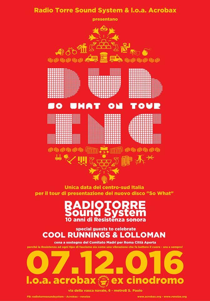 Mercoledì 7 Dicembre/ Dub Inc Live