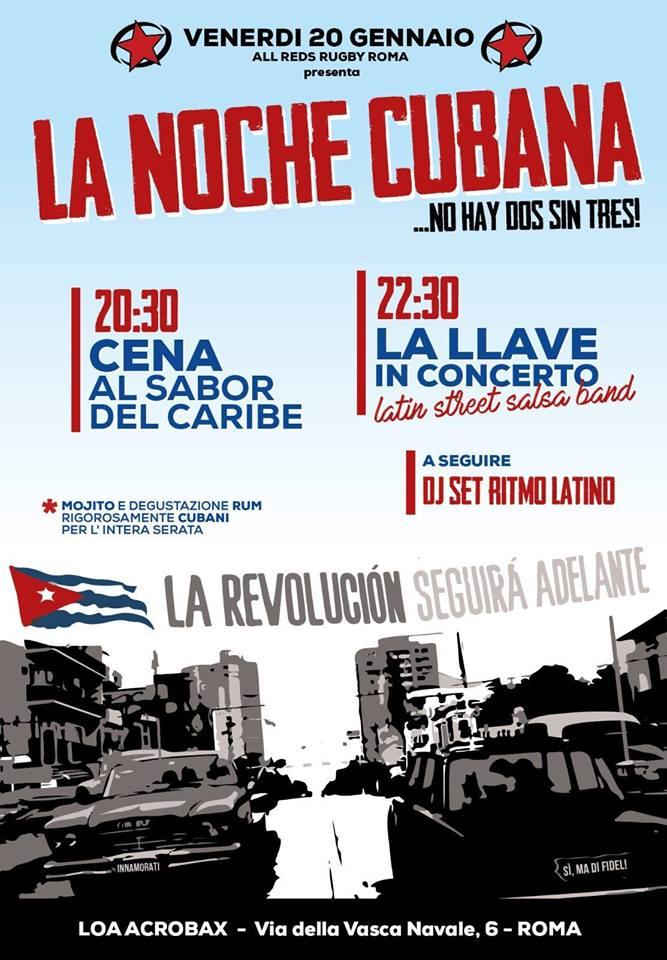 Venerdì 20 gennaio/ La noche cubana