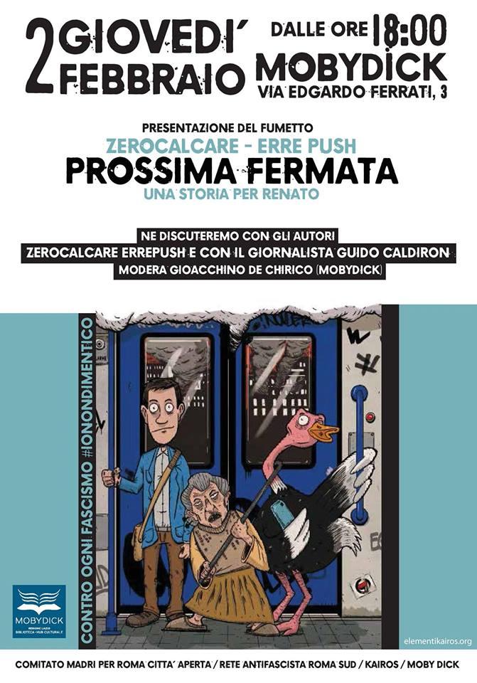 Giovedì 2 Febbraio/Prossima Fermata-una storia per Renato