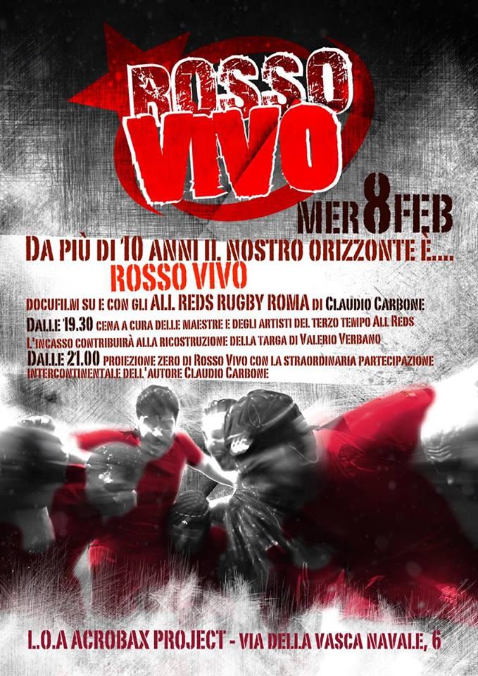 Mercoledì 8 Febbraio/Proiezione Rosso Vivo
