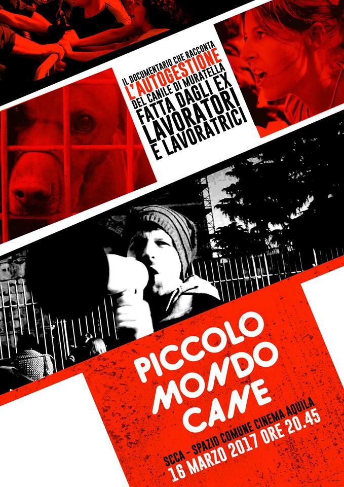 """Giovedì 16 marzo/Proiezione di """"Piccolo Mondo Cane"""" al Cinema Aquila"""