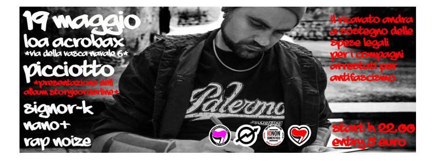 Venerdì 19 Maggio/ StoryBorderLine ★ Picciotto-Signor K, Ill Nano