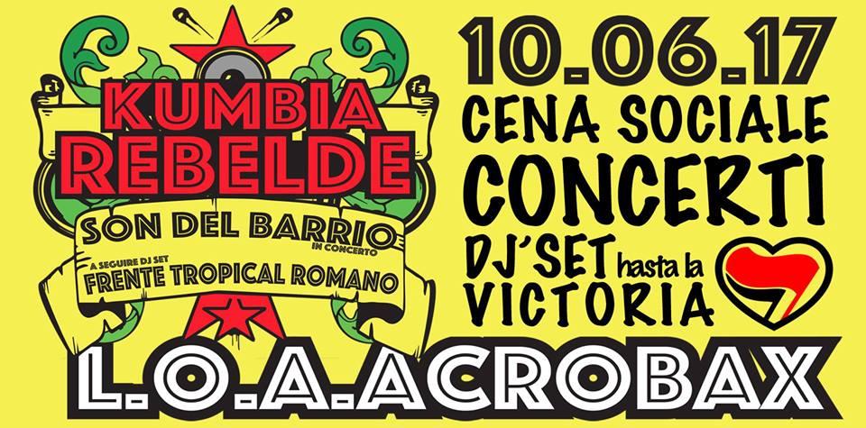 Sabato 10 Giugno/ Kumbia Rebelde