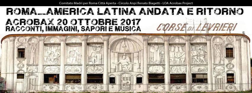 Venerdì 20 ottobre/Roma_America latina andata e ritorno