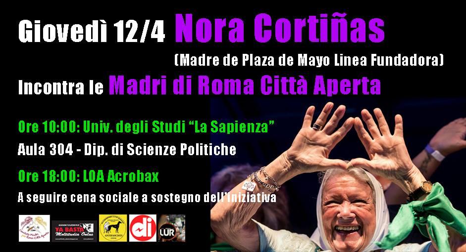 Giovedì 12 aprile/ Madri per la Libertà, la Memoria e la Giustizia Sociale