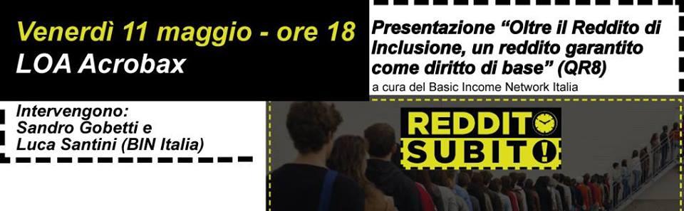 Venerdì 11 maggio/Oltre il ReI,un reddito garantito come diritto di base-BinItalia