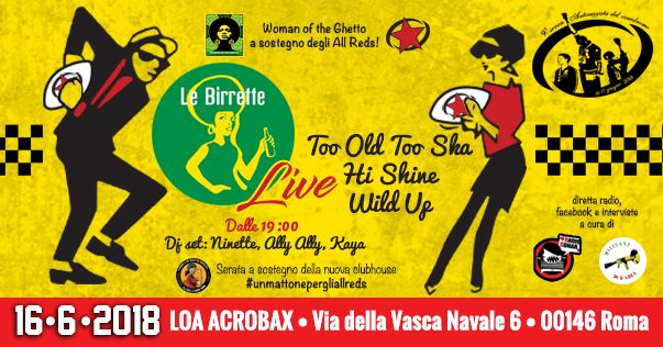 Sabato 16 Giugno/ Le Birrette + Woman of the Ghetto per All Reds Rugby Roma