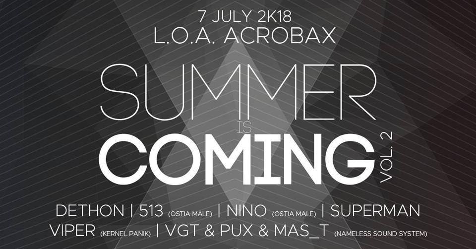 Sabato 7 luglio/ Summer is coming (vol. 2)