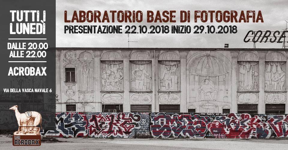 Lunedì 22 ottobre/Presentazione Corso Base di Fotografia