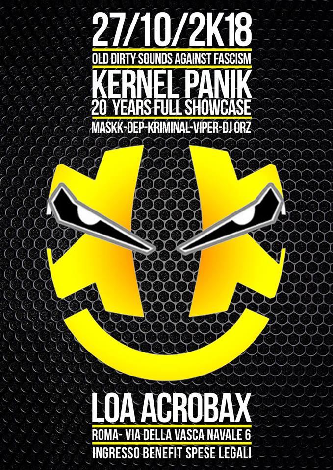 Sabato 27 ottobre/Old Dirty Sounds Against Fascism Kernel Panik full showcase