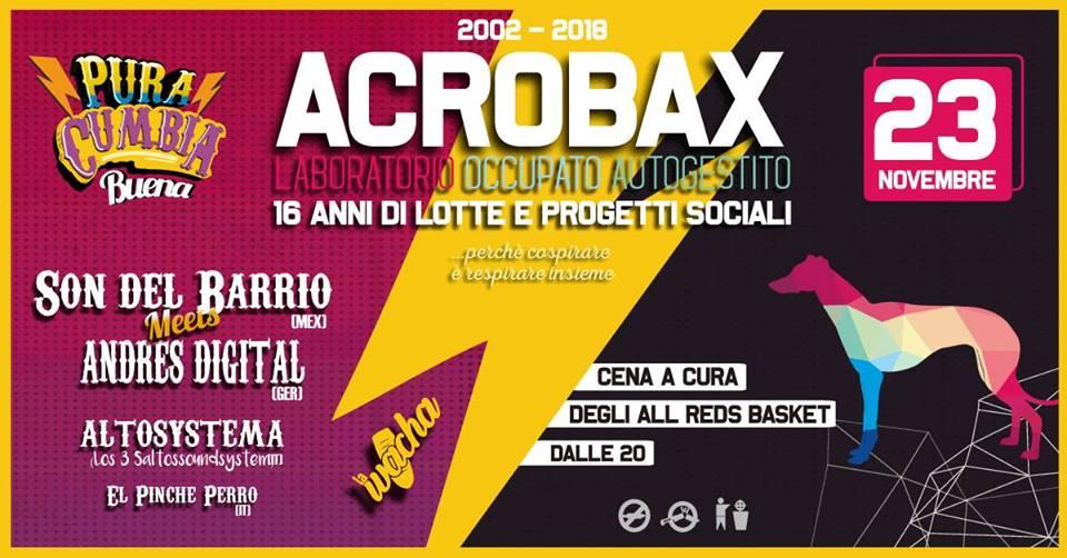 Venerdì 23 novembre/ Acrobax compie 16 anni!
