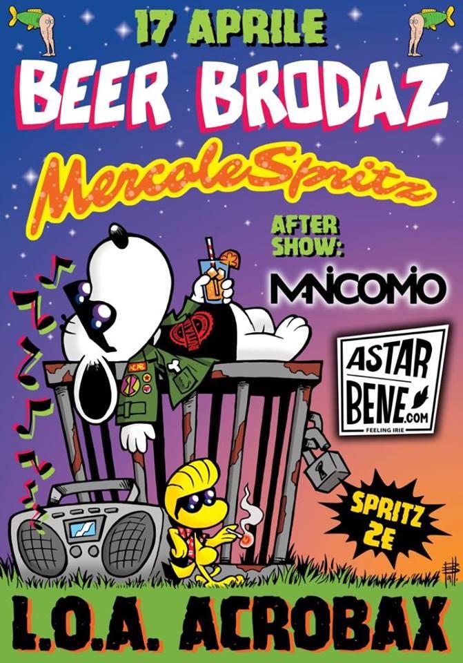 Mercoledì 17 Aprile/ Beer Brodaz@Acrobax - MercoleSpritz