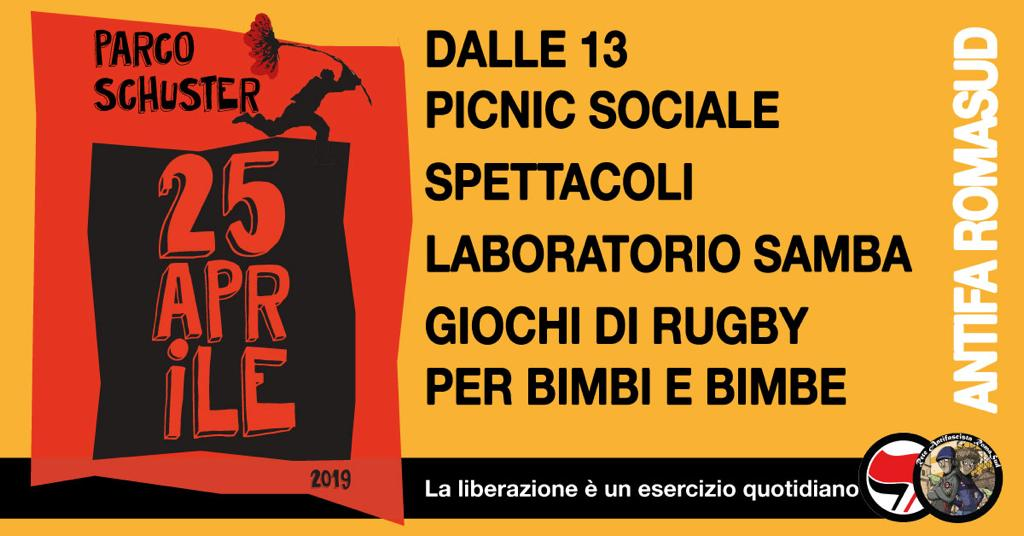 Giovedì 25 Aprile a Parco Schuster