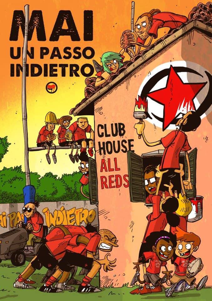 La Clubhouse degli All Reds