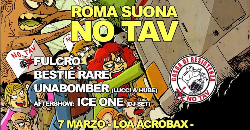 Sabato 7 Marzo/Roma Suona No Tav ★ La lotta non s'Arresta